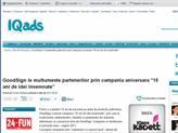 IQAds - GoodSign le multumeste partenerilor prin campania aniversara - 15 ani de idei insemnate -
